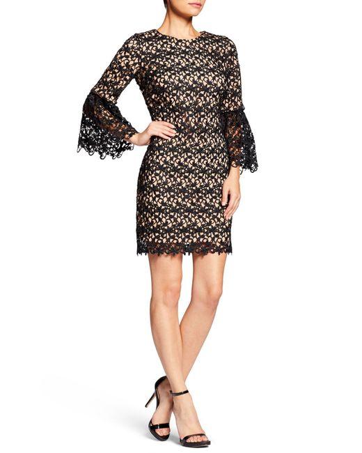 Dress the Population - Black Paige Crochet Shift Dress - Lyst