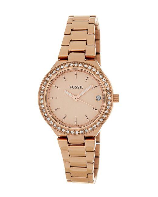 Fossil - Metallic Women's Blane Crystal Watch & Bracelet Set, 31mm - Lyst
