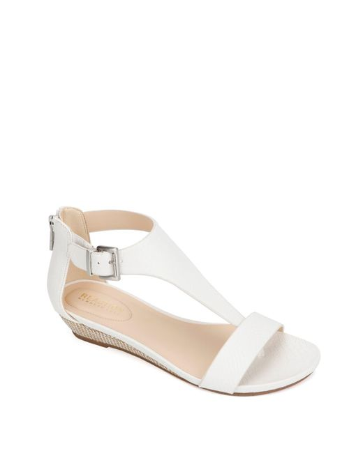 Kenneth Cole Reaction White Great Gal T-strap Sandal