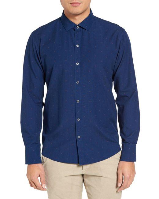 Zachary Prell - Blue Trim Fit Sport Shirt for Men - Lyst
