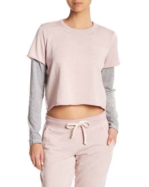 Alternative Apparel - Gray 2-fer Long Sleeve Pullover - Lyst