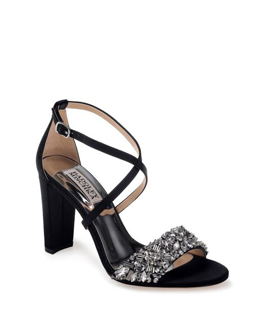 2e2c0a1ceab Badgley Mischka - Multicolor Sandra Embellished Block Heel Sandal - Lyst ...