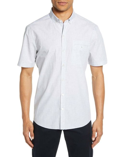 Zachary Prell Gray Cechini Regular Fit Short Sleeve Sport Shirt for men