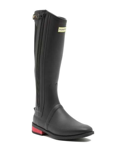 Hunter - Black Women's Wellesley Rubber Riding Boots - Lyst