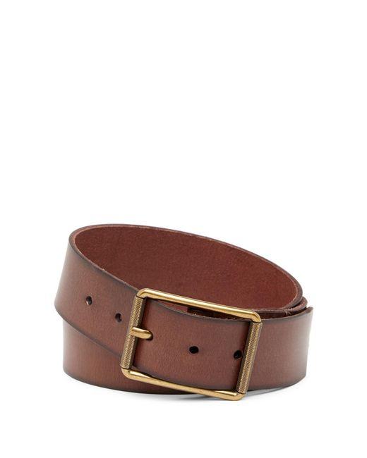 Frye - Brown Burnished Leather Belt for Men - Lyst
