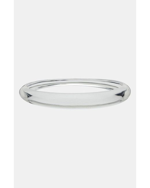 Alexis Bittar Metallic Lucite Skinny Transparent Bangle Bracelet
