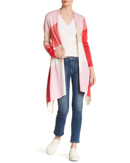 In Cashmere | Pink Colorblock Cardigan | Lyst
