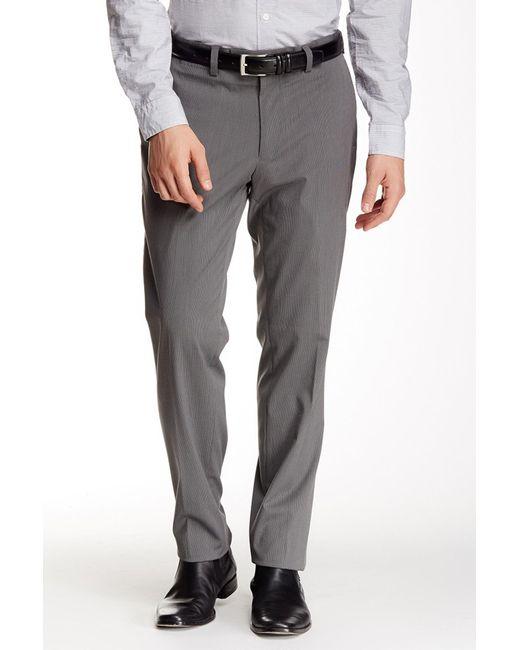 "Louis Raphael - Gray Slim Fit Micro Stripe Pant - 30-34"" Inseam for Men - Lyst"
