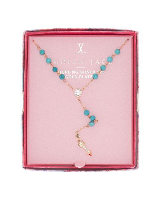 Judith Jack | Blue Inspire Me Boxed Arrow Pendant Y-necklace | Lyst