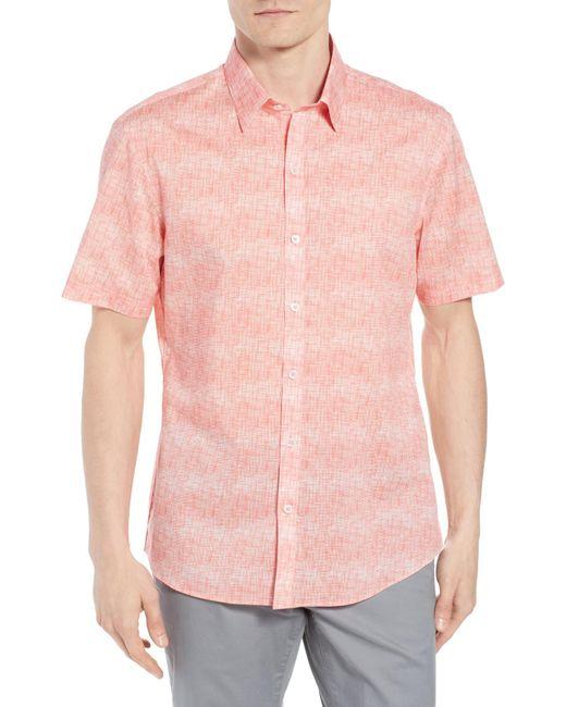 Zachary Prell - Pink Regular Fit Woven Shirt for Men - Lyst