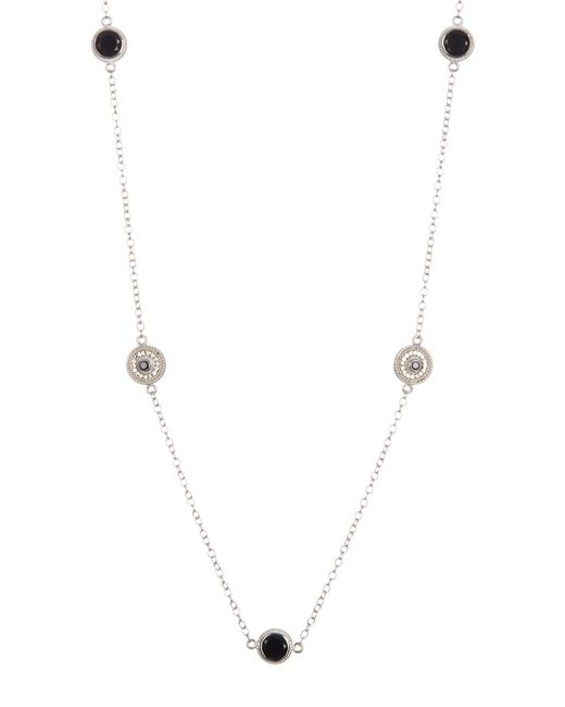 Anna Beck - Metallic Sterling Silver Black Onyx Multi-disc Necklace - Lyst