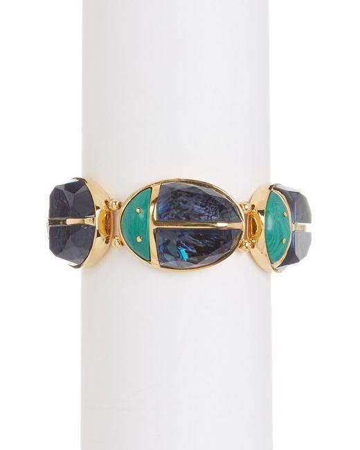 Trina Turk | Multicolor Malacite & Mother Of Pearl Ladybug Stretch Bracelet | Lyst