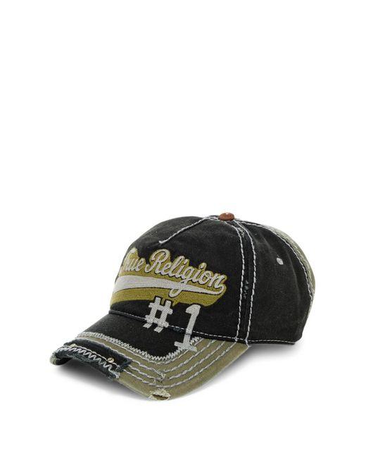 True Religion | Black Script Baseball Cap for Men | Lyst