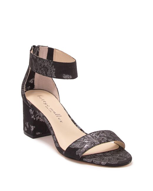 Bettye Muller Multicolor Tangle Brocade Block Heel Sandal
