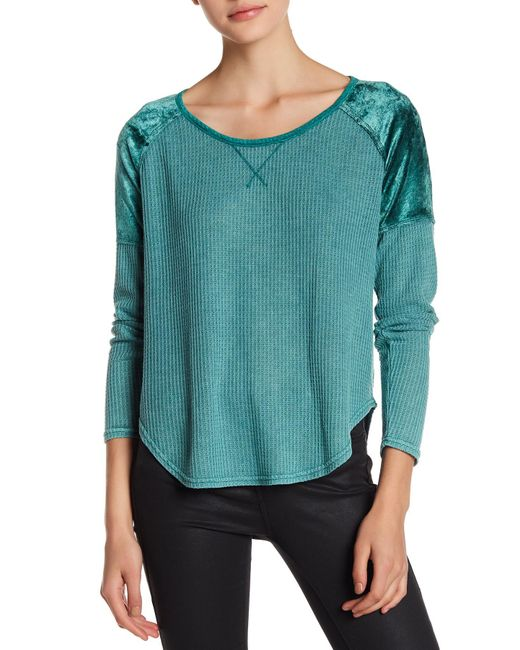 Lucky Brand | Green Thermal Texture Tee | Lyst