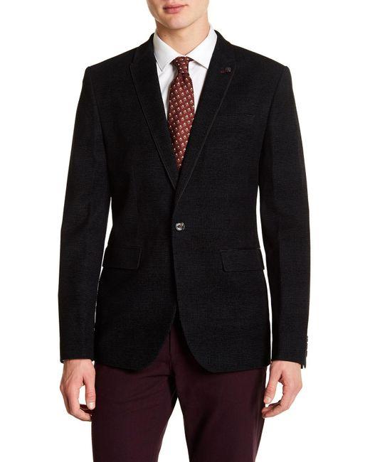 Ted Baker - Black Flocked Velvet Suit Jacket for Men - Lyst