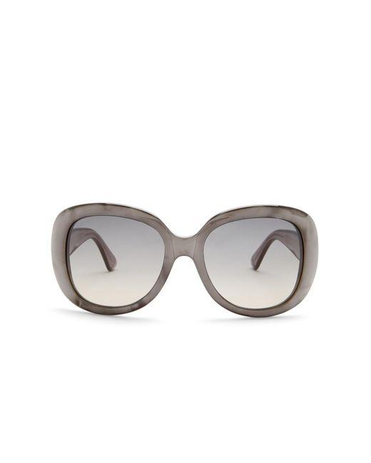 Gucci Gray Women's Oversized Sunglasses