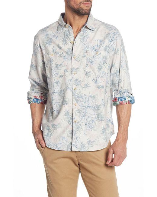 Tommy Bahama Multicolor Beachy Palms Long Sleeve Hawaiian Shirt for men