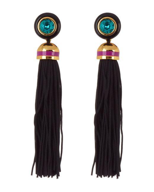 Trina Turk - Black Tassel Drop Earrings - Lyst
