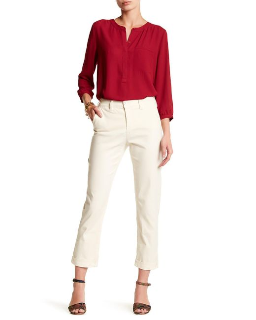 NYDJ | Multicolor Riley Stretch Twill Relaxed Trouser | Lyst