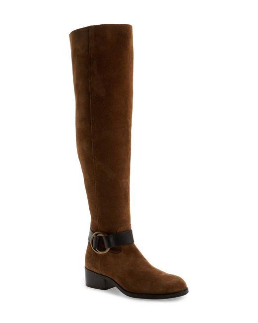 Frye - Brown Kristen Harness Over The Knee Boot (women) - Lyst