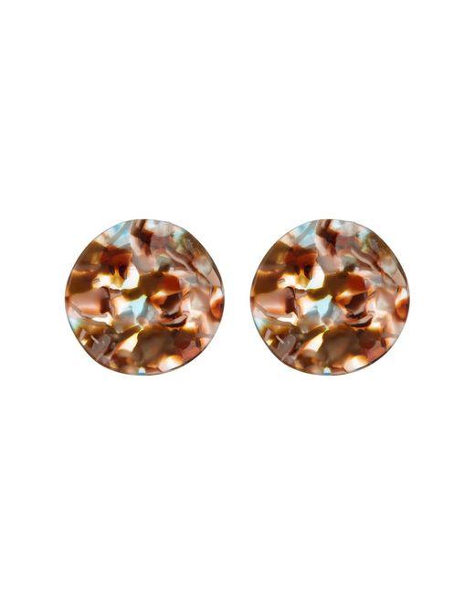 Cara - Multicolor Bold Tortoise Wavy Circle Earrings - Lyst