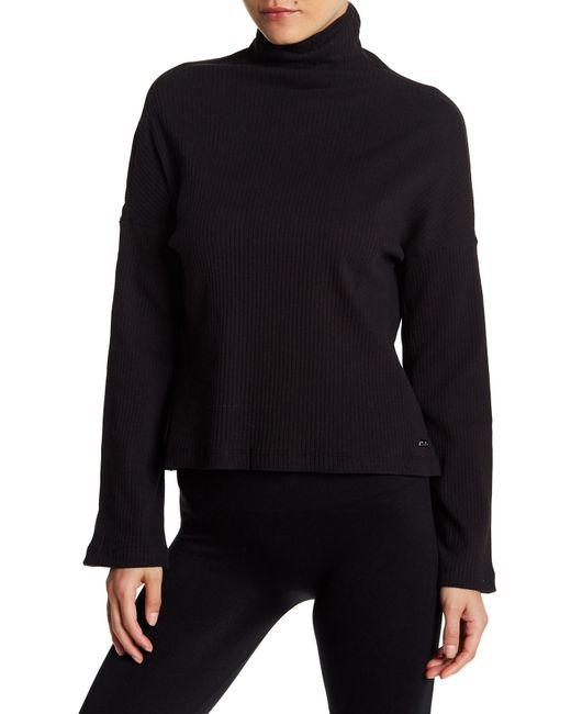 Betsey Johnson - Black Ribbed Turtleneck Shirt - Lyst