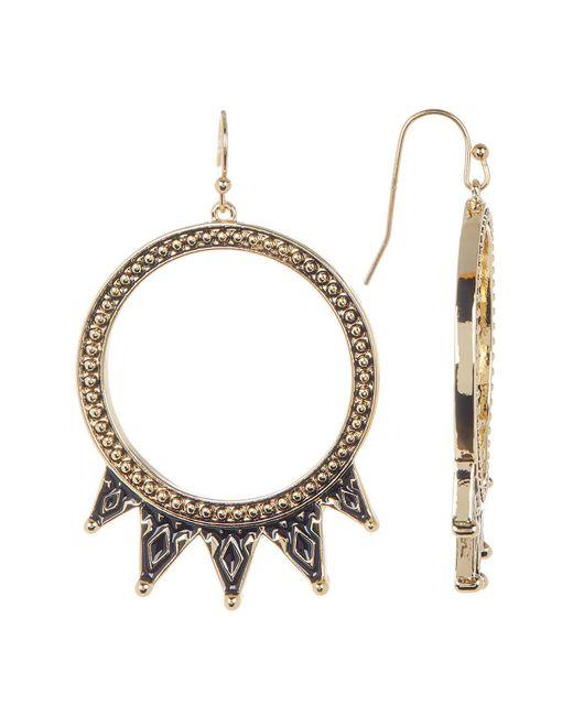 Jessica Simpson | Multicolor Pattern Detail Hoop Drop Earrings | Lyst