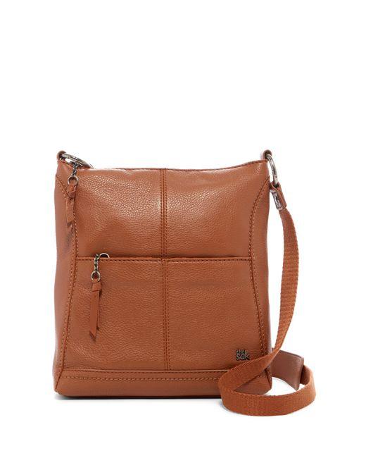 The Sak Brown Lucia Leather Crossbody Bag Lyst