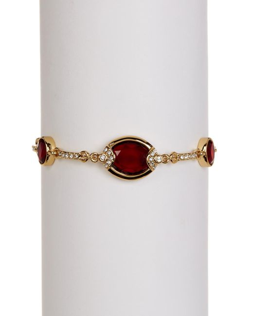 Carolee | Metallic Rhinestone Link Toggle Bracelet | Lyst
