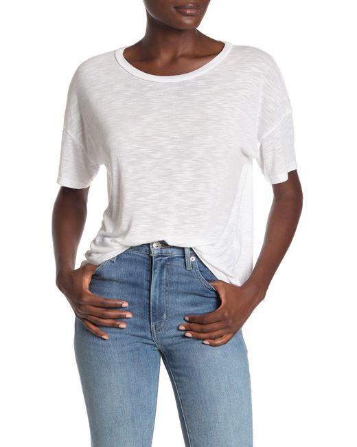 Michael Stars White Boxy Short Sleeve T-shirt