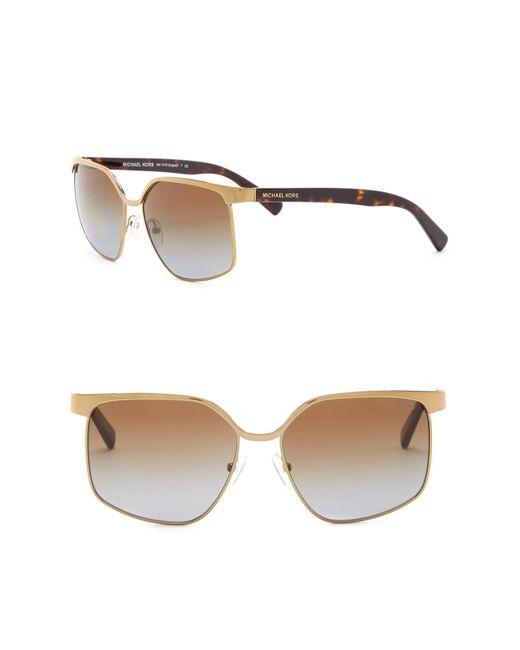 Michael Kors - Metallic Women's August 56mm Square Sunglasses - Lyst