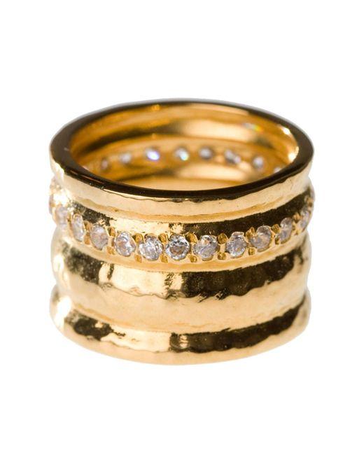 Melinda Maria - Metallic Cigar Band Ring - Size 5 - Lyst