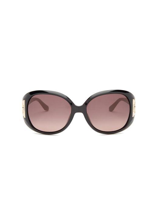 Ferragamo - Black 57mm Oversized Sunglasses - Lyst