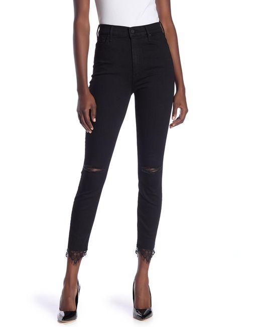 Mother - Black Swooner Dagger Ankle Skinny Jeans - Lyst