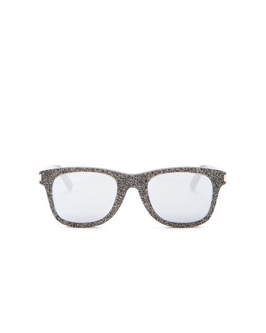 02f48d8f907 ... Saint Laurent - Metallic 50mm Glitter Square Sunglasses - Lyst ...