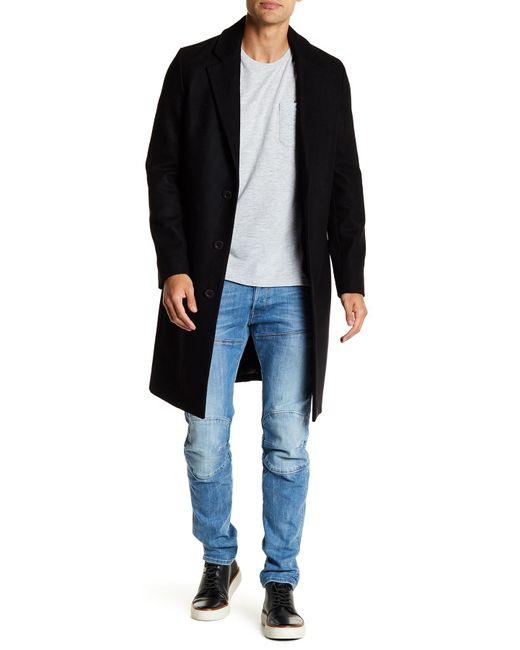 Vince - Black Mid-length Solid Overcoat for Men - Lyst