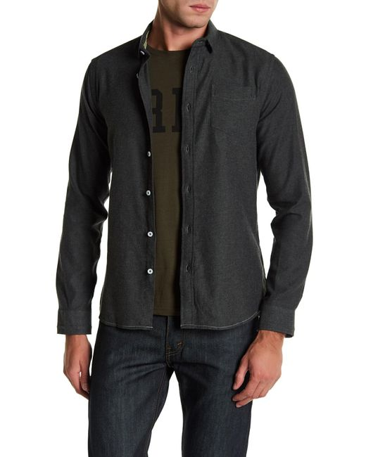 Descendant Of Thieves | Green Long Sleeve Twill Shirt for Men | Lyst