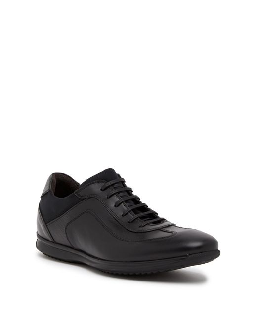 Bacco Bucci - Black Cabral Leather Sneaker for Men - Lyst