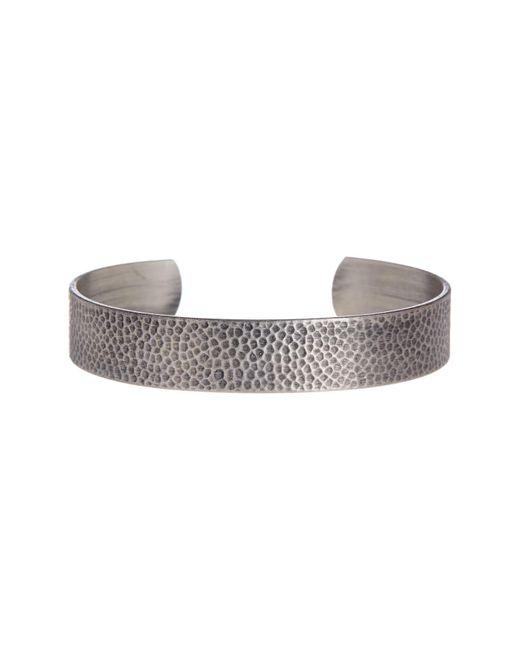Link Up - Metallic Hammered Textured Cuff Bracelet - Lyst