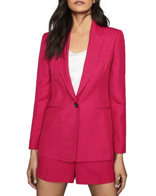 Reiss Pink Ada Blazer Jacket