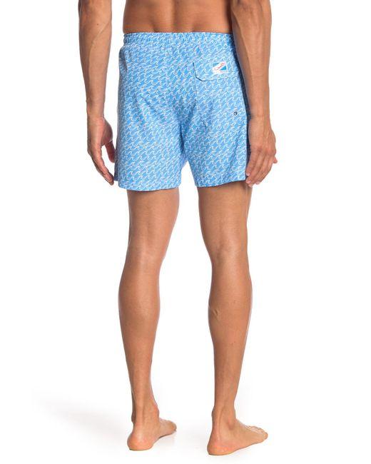36d0931a7f ... Bermies - Blue Wave Print Swim Shorts for Men - Lyst