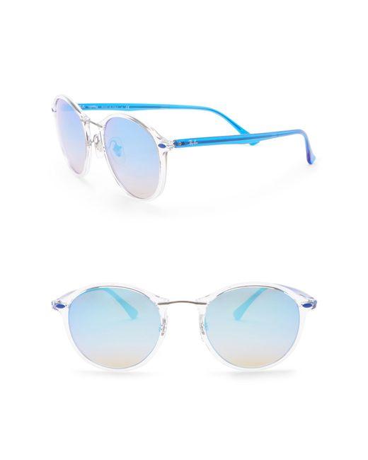 Ray-Ban - Blue Phantos 49mm Round Sunglasses - Lyst