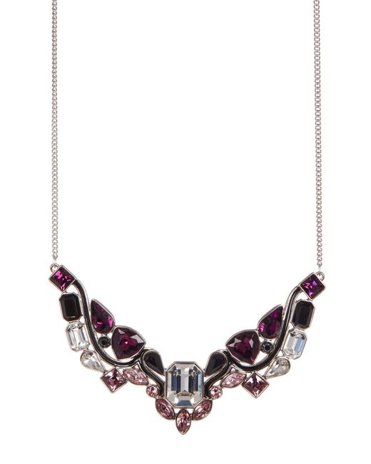 Swarovski - Multicolor Impulse Multi Color Faceted Crystal Bib Necklace - Lyst