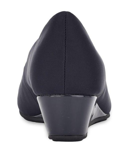 Bandolino Blue Clesa Peep Toe Wedge Pump