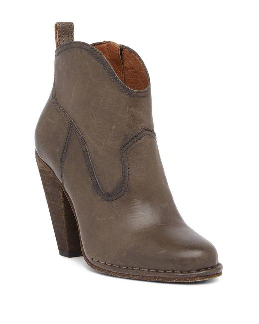 Frye - Brown Madeline Short Boot - Lyst