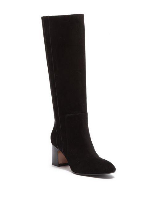 Aquatalia - Black Eve Weatherproof Suede Knee-high Boot - Lyst