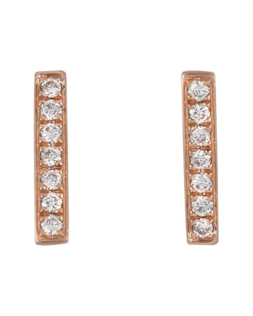 Bony Levy - Metallic 18k Rose Gold Diamond Bar Earrings - 0.10 Ctw - Lyst
