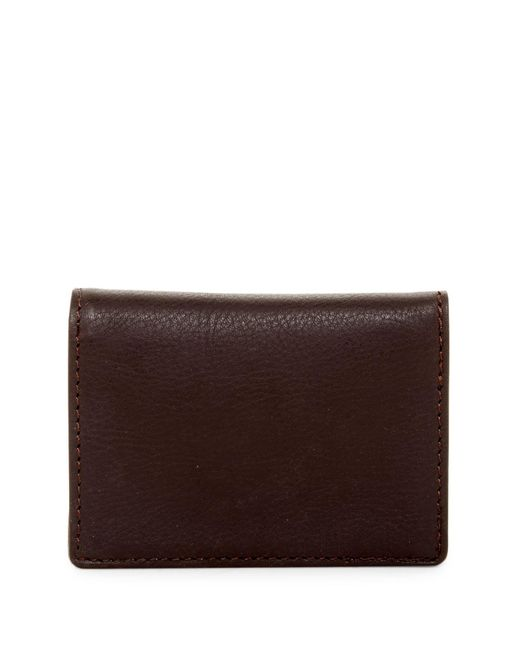 Will Leather Goods | Brown Leather Cardfold for Men | Lyst