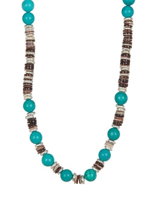 Link Up - Multicolor Shell Discs Beaded Necklace - Lyst